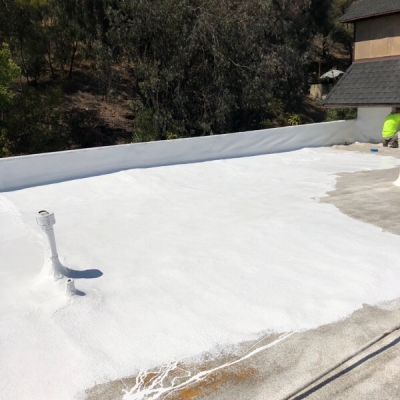 silicone coating over existing roof
