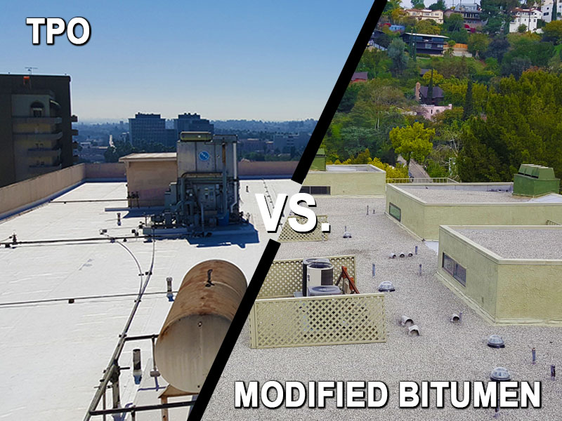 Commercial Roofing Tpo Vs Modified Bitumen Alta Roofing San Diego